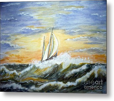 Rough Seas Metal Print by Carol Grimes