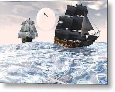 Rough Seas Metal Print by Claude McCoy