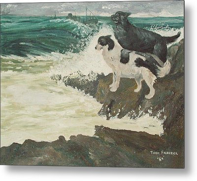 Metal Print featuring the painting Roughsea by Terry Frederick