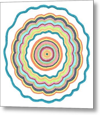 Round And Round Metal Print by Jill Lenzmeier