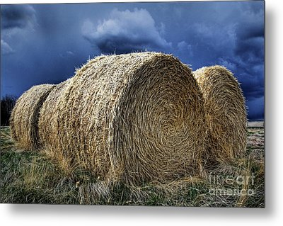 Metal Print featuring the photograph Round Bales by Brad Allen Fine Art