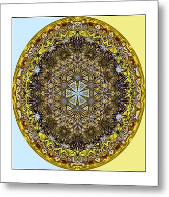 Round Geometric Design Metal Print by Susan Leggett