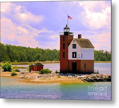 Round Island Lighthouse Metal Print
