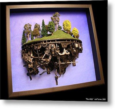 Roundup Metal Print by Jud  Turner