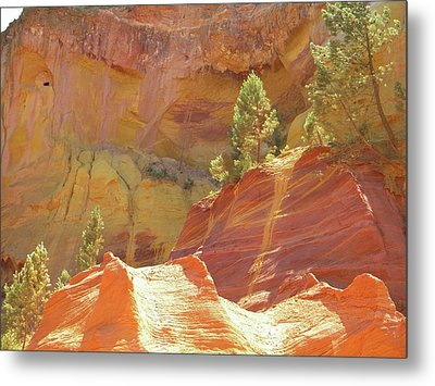Metal Print featuring the photograph Roussillon Colours by Manuela Constantin