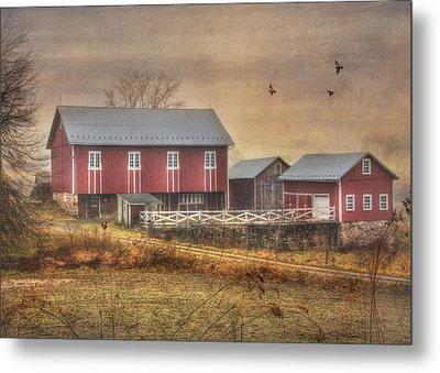 Route 419 Barn Metal Print by Lori Deiter