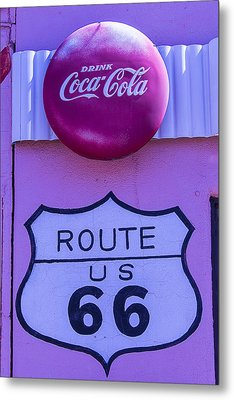 Route 66 Coca Cola Sign Metal Print by Garry Gay