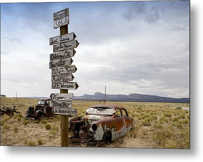 Route 66 In Arizona Metal Print by Carol M Highsmith