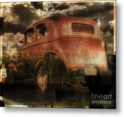 Route 66 Metal Print by Mindy Sommers