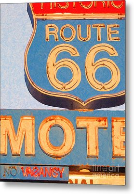 Route 66 Motel Seligman Arizona Metal Print by Wingsdomain Art and Photography