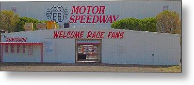 Route 66 Motor Speedway Metal Print
