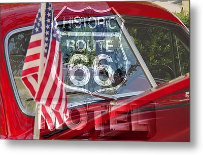 Metal Print featuring the photograph Route 66 The American Highway by David Lee Thompson