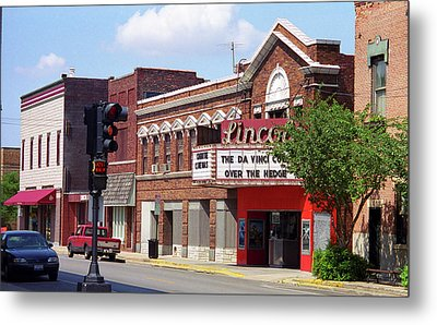 Route 66 Theater Metal Print by Frank Romeo