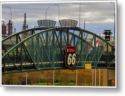 Route 66 Tulsa Sign - Hdr Metal Print by Tony Grider