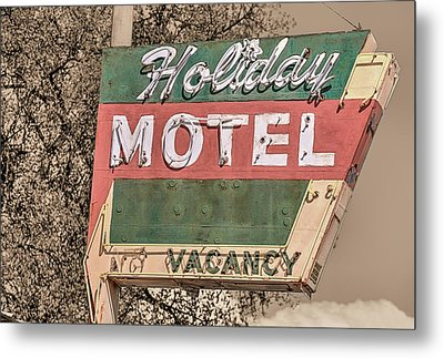Metal Print featuring the photograph Route 66 Vintage Americana Holiday Motel by JC Findley