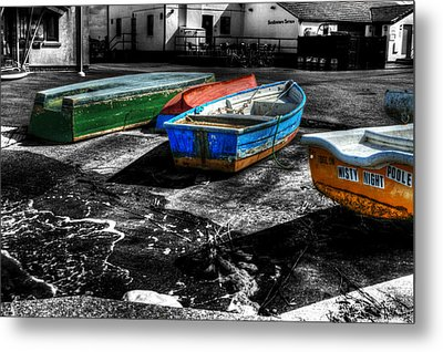 Row Boats At Mudeford Metal Print