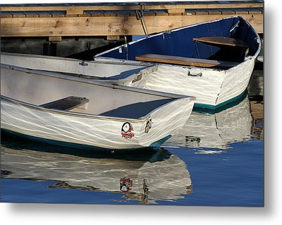 Metal Print featuring the photograph Row Boats In Manchesta  by Juergen Roth