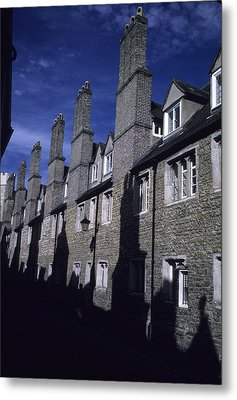 Row Houses Stand Huddled Together Metal Print by Taylor S. Kennedy