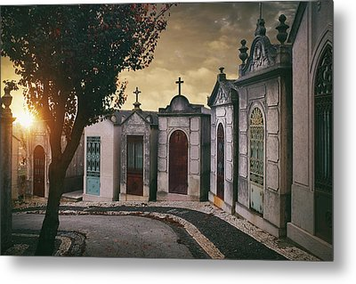 Metal Print featuring the photograph Row Of Crypts by Carlos Caetano