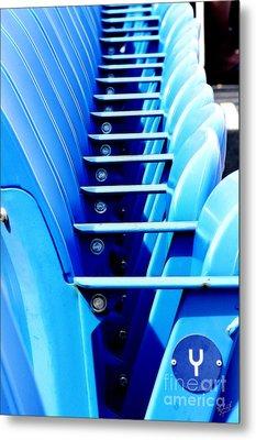 Row Of Stadium Seats Metal Print by Nishanth Gopinathan
