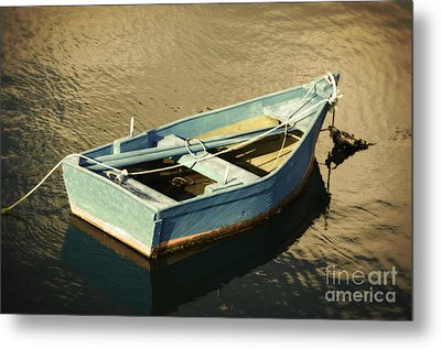 Rowboat At Twilight Metal Print