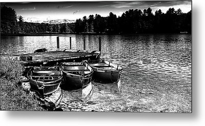Metal Print featuring the photograph Rowboats At The Dock 2 by David Patterson