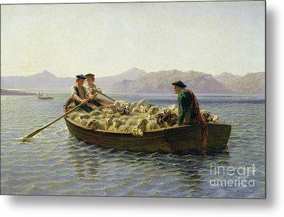 Rowing Boat Metal Print