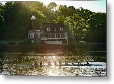 Metal Print featuring the photograph Rowing In Front Of Segley Club by Bill Cannon