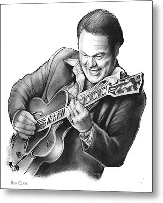 Roy Clark Metal Print by Greg Joens