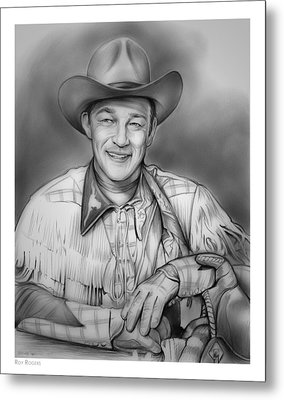 Roy Rogers Metal Print by Greg Joens