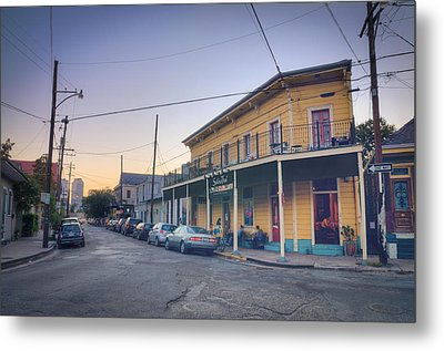 Metal Print featuring the photograph Royal And Touro Streets Sunset In The Marigny by Ray Devlin