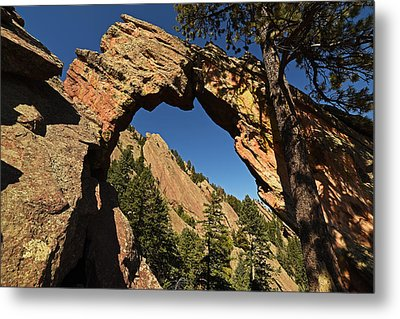 Royal Arch Trail Arch Boulder Colorado Metal Print by Toby McGuire
