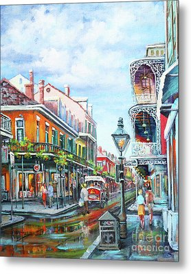 Metal Print featuring the painting Royal Balconies by Dianne Parks
