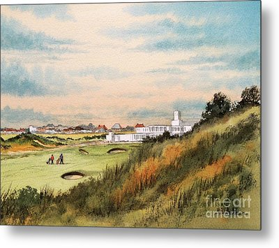 Metal Print featuring the painting Royal Birkdale Golf Course 18th Hole by Bill Holkham