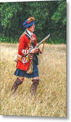 Royal Highlanders 77th Regiment Of Foot  Metal Print by Randy Steele