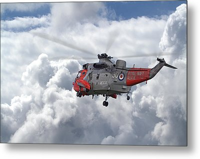Metal Print featuring the photograph Royal Navy - Sea King by Pat Speirs