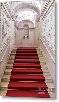 Royal Palace Staircase Metal Print by Jose Elias - Sofia Pereira