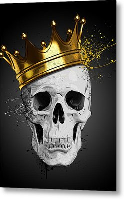 Royal Skull Metal Print by Nicklas Gustafsson