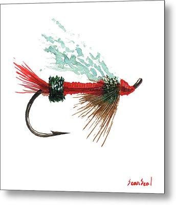 Royal Trude Salmon Fly Metal Print by Sean Seal