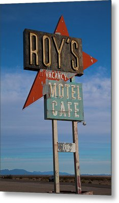 Metal Print featuring the photograph Roy's Motel Cafe by Matthew Bamberg