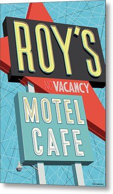 Roy's Motel Cafe Pop Art Metal Print by Jim Zahniser