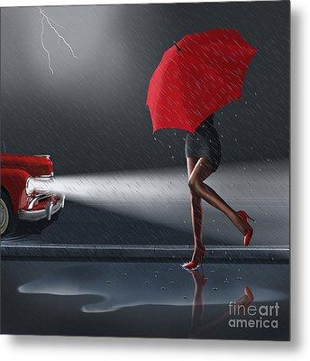 Rainy Day Metal Print by Monika Juengling