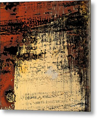 Rub Abstract Metal Print by Gary Everson