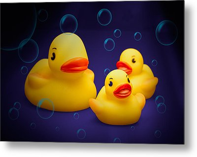 Rubber Duckies Metal Print by Tom Mc Nemar