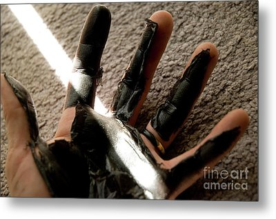 Metal Print featuring the photograph Rubber Hand by Micah May
