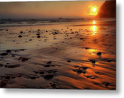 Metal Print featuring the photograph Ruby Beach Sunset by David Chandler