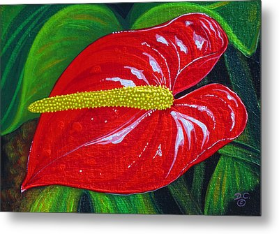 Metal Print featuring the painting Ruby Holiday by Debbie Chamberlin