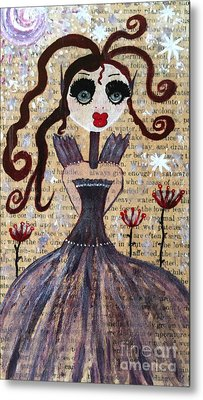 Metal Print featuring the painting Ruby by Julie Engelhardt