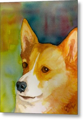 Ruby The Corgi Metal Print by Cheryl Dodd