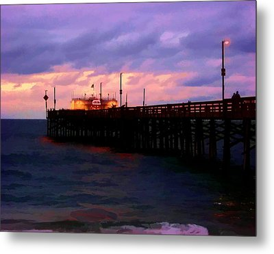 Metal Print featuring the digital art Ruby's At Dawn by Timothy Bulone